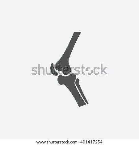 Knee icon. stock photo