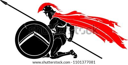 Kneeling Spartan Warrior