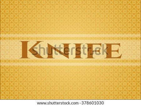 Knife colorful card, banner or poster with nice design