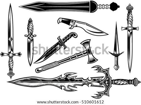 knife  dagger  sword and