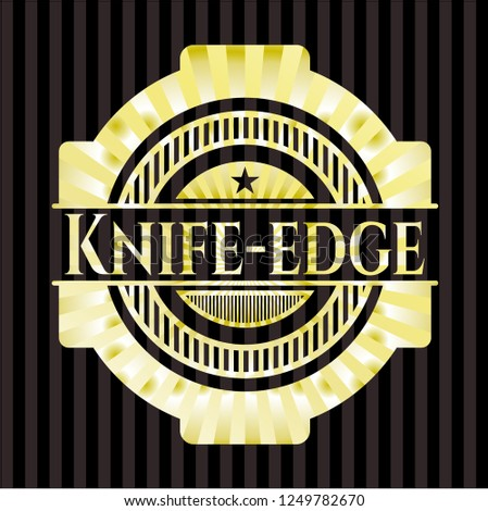 knife edge golden badge or