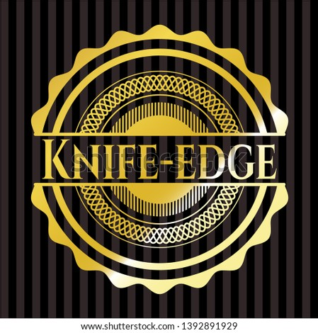 knife edge golden emblem or