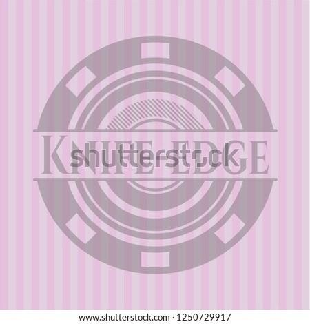 knife edge pink emblem vintage
