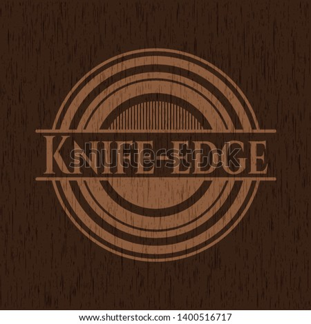 knife edge wood signboards