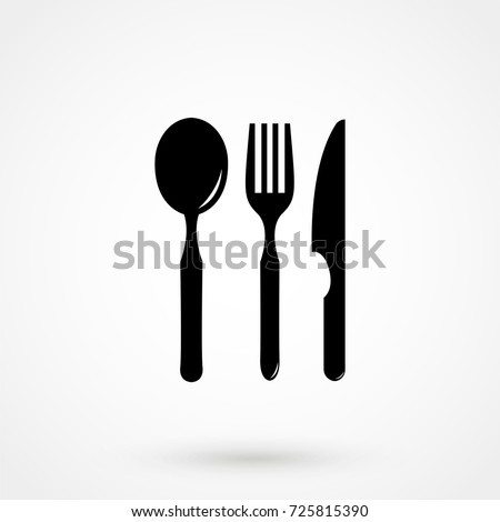 knife, fork and spoon icon isolated on background. Modern flat pictogram, business, marketing, internet. Trendy Simple vector symbol for web site design or button to mobile app. Logo illustration