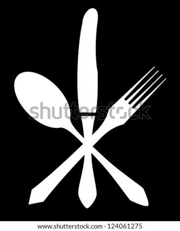 knife fork and spoon vector illustration