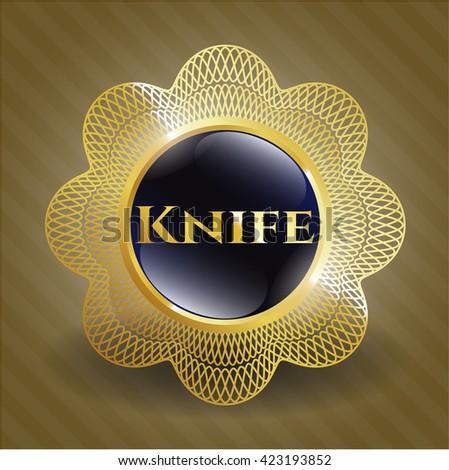 Knife gold badge