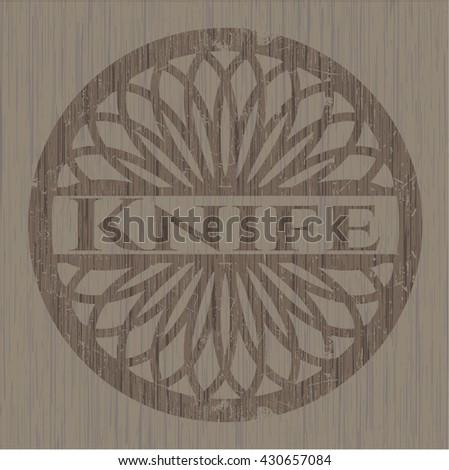 Knife wood emblem. Vintage.