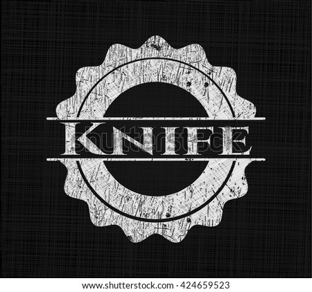 Knife written on a blackboard