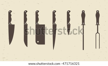 knifes set or kitchen knives
