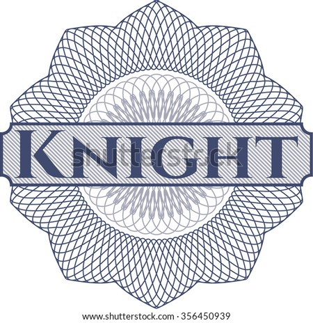 Knight abstract rosette