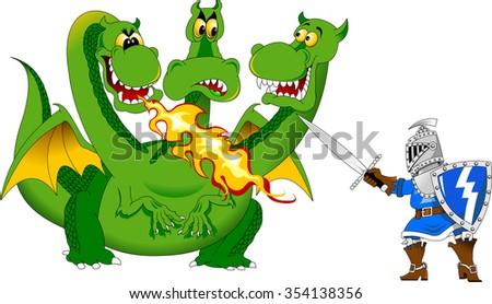 knight attacks the fire