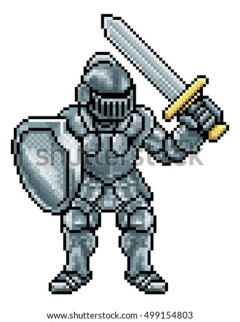 knight cartoon character in
