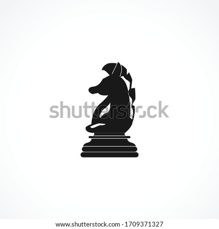 knight chess piece icon chess