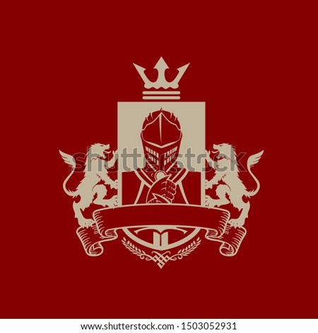 knight emblem  elegant look
