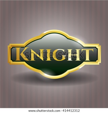 Knight golden badge or emblem