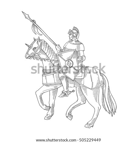 knight in armor on a horse