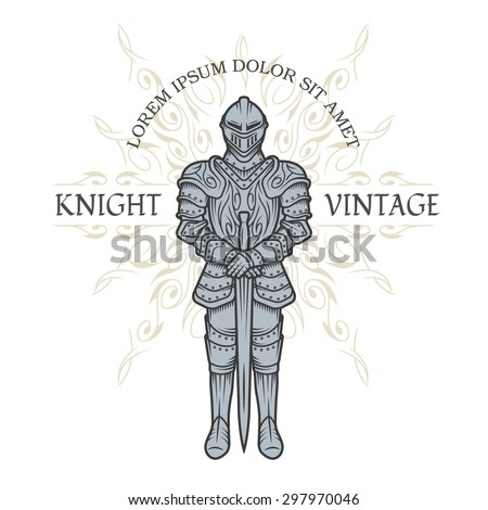 knight in armor vintage style