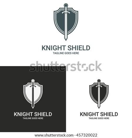 knight logo template shield