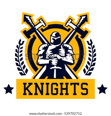 knight logo warrior in the