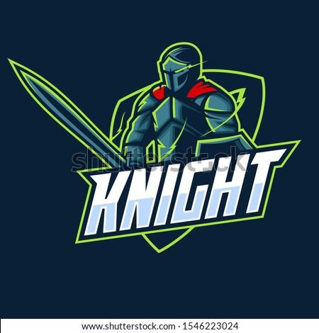 knight mascot esport logo design