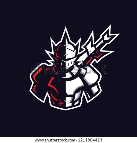 Knight mascot gaming logo