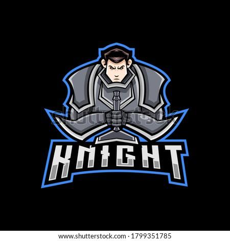 knight mascot logo for sport