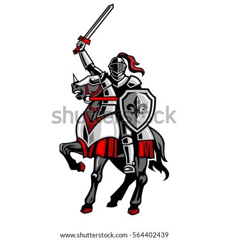 knight riding horse fleur de
