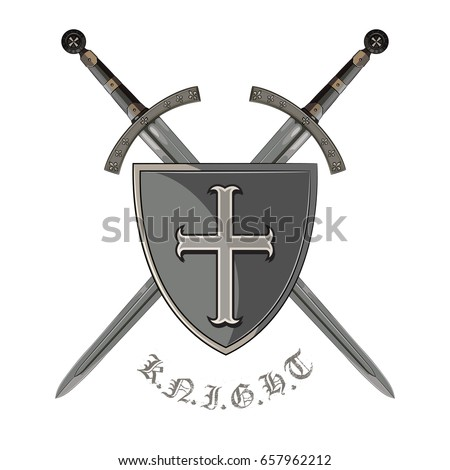 knight sword two crossed