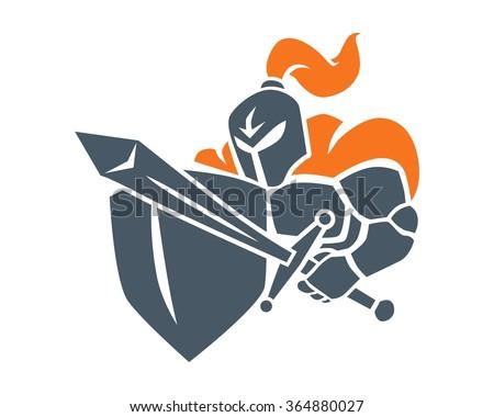 knight warrior cartoon character