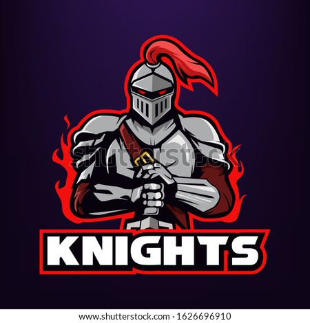 knight warrior holding a sword