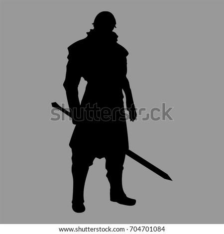 knight warrior silhouette