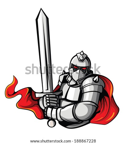 knight warrior vector