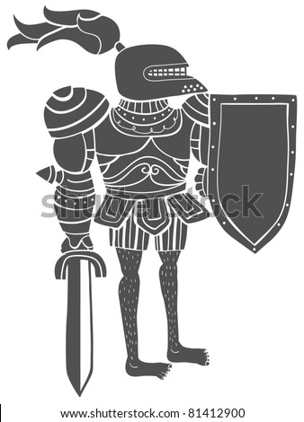 Knight with chest armor and underwear