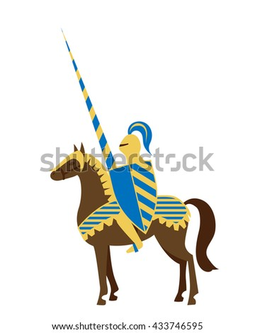 knight with spear raised in the