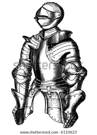 knightly armour represented in