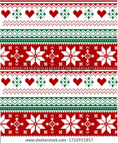 Knitted Christmas pattern background vector