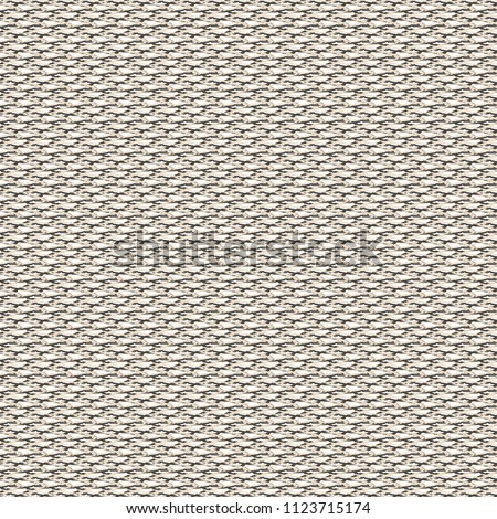 Knitted hemp fabric. White woven background. Sackcloth texture. Vector illustration.