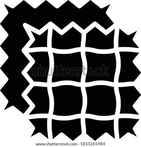Knitted piece of cloth concept, Fabric Sample on white background, Synthetic fibers Tammy Cloth Vector Glyph Icon design, Rag and Patches Sign Zdjęcia stock ©