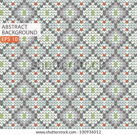 Knitted wool vector pattern background