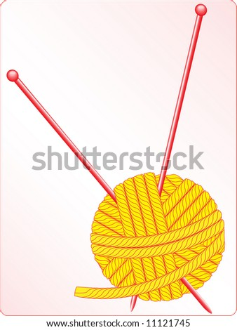 knitting. vector