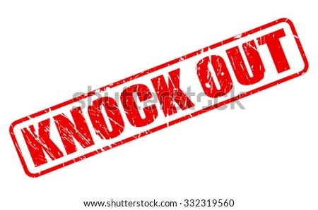 knock out red stamp text on
