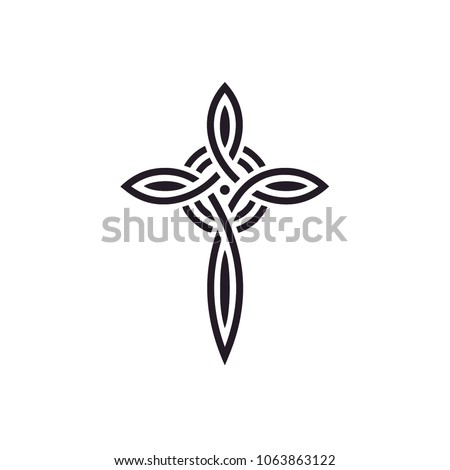 knot celtic christian cross