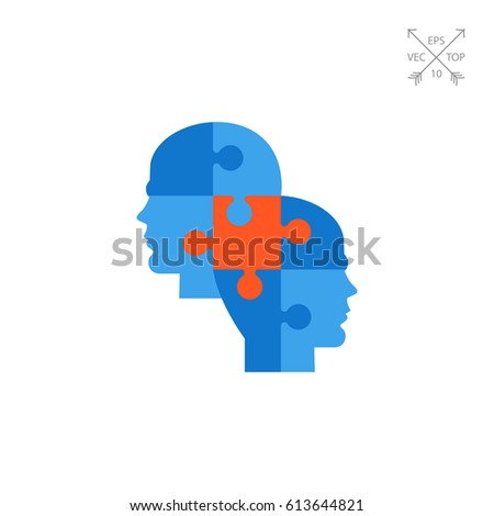 Knowledge concept with puzzle piece icon