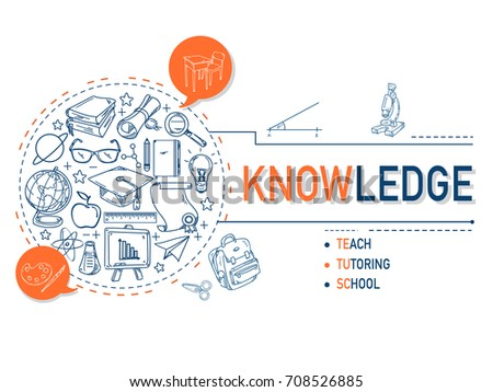 Knowledge icons collection for education illustration design.vector