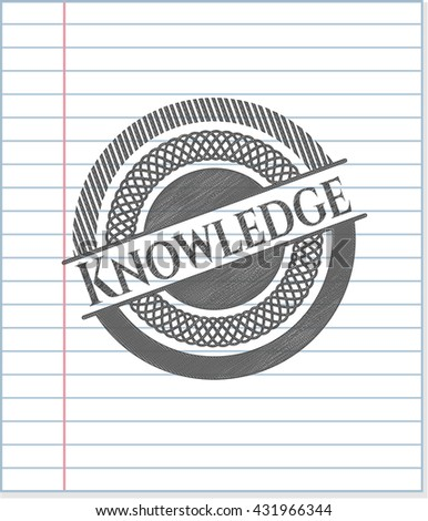 Knowledge pencil strokes emblem