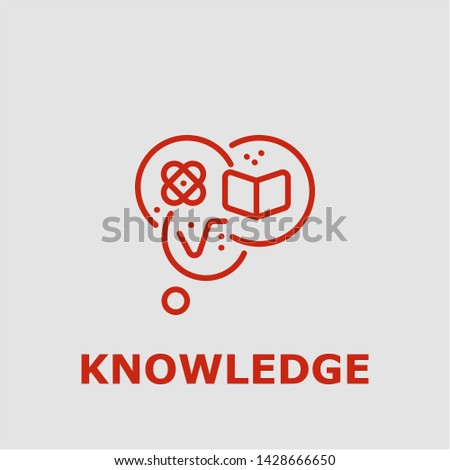 Knowledge symbol. Outline knowledge icon. Knowledge vector illustration for graphic art.