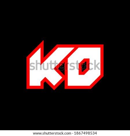 KO logo design, initial KO letter design with sci-fi style. KO logo for game, esport, Technology, Digital, Community or Business. K O sport modern Italic alphabet font. Typography urban style fonts. Zdjęcia stock ©