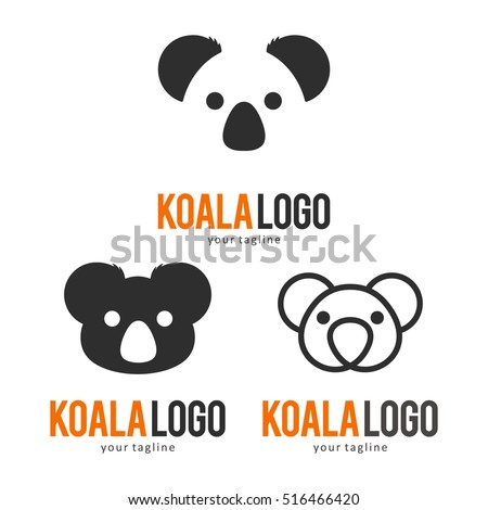 Koala logo. Vector illustration. | EZ Canvas