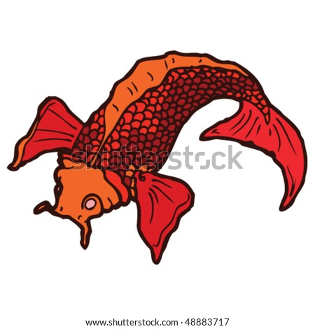 koi carp tattoo. Koi carp are popular motifs in Japanese tattoos. stock vector : koi carp tattoo drawing